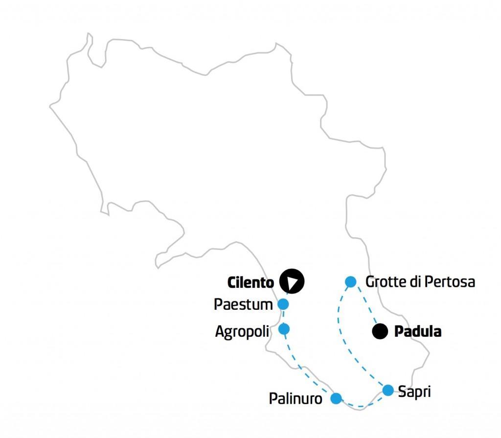 Campania Tour Cilento mappa