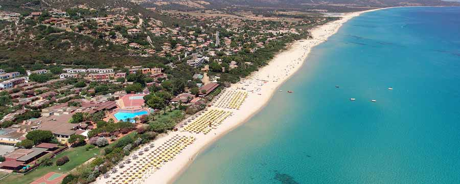 Free Beach Hotel Club -Vista Aerea_Costa Rei Muravera
