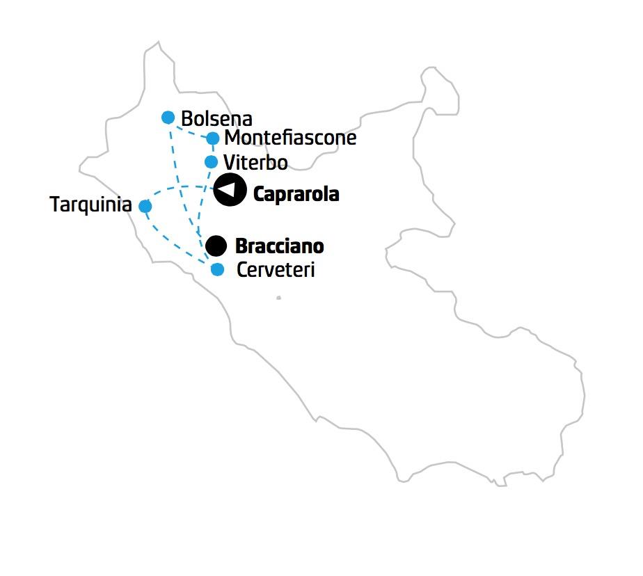 Tour Tuscia mappa