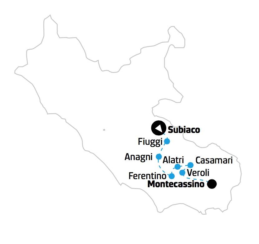 Tour Classico della Ciociaria mappa