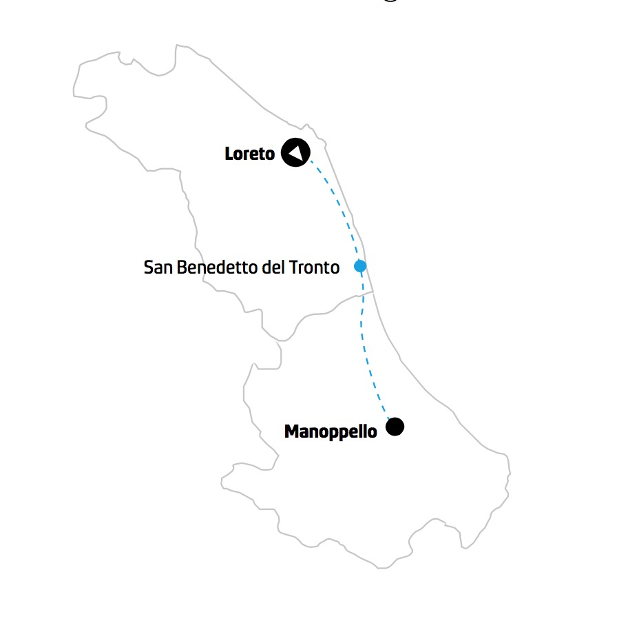 Tour Loreto e Manoppello mappa