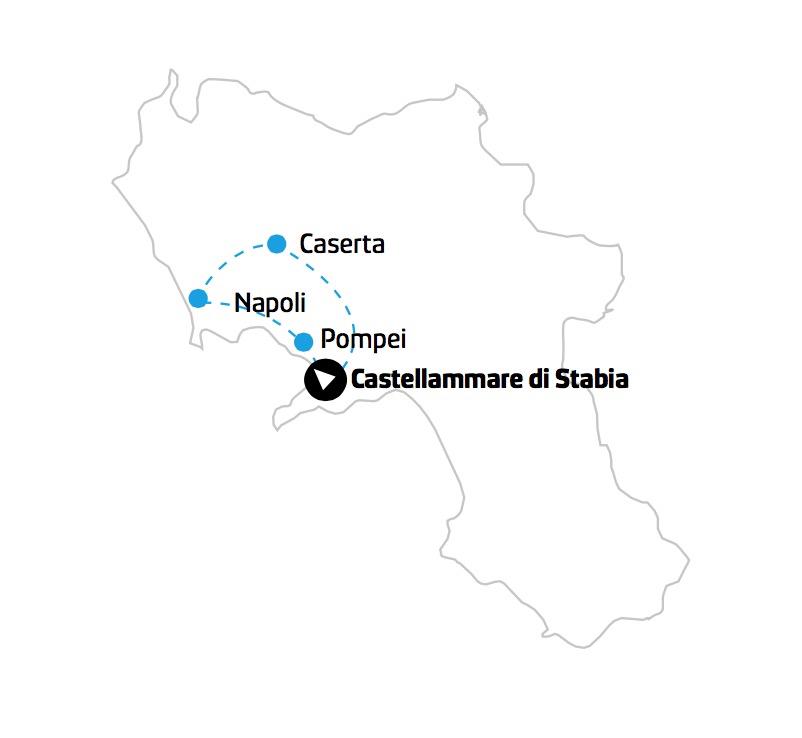 Tour Pompei: mappa campania