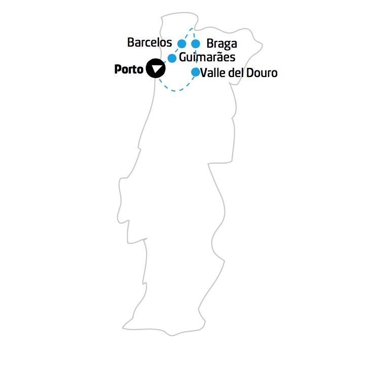Portogallo Porto Mappa