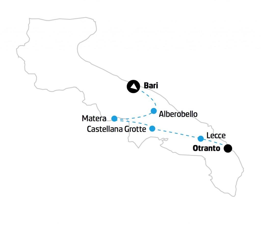 Puglia e Salento mappa